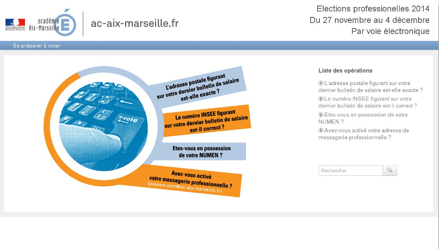 Conception et Réalisation site web marseille - dgwdesign - Election professionelles 2014